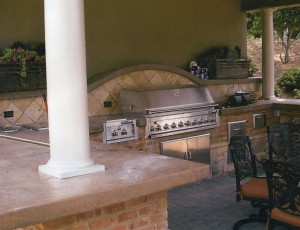 landscaping design outdoor kitchens