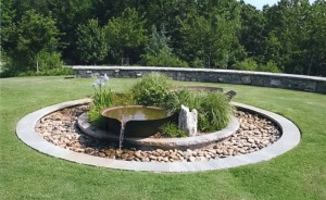 landscaping designs stone water features